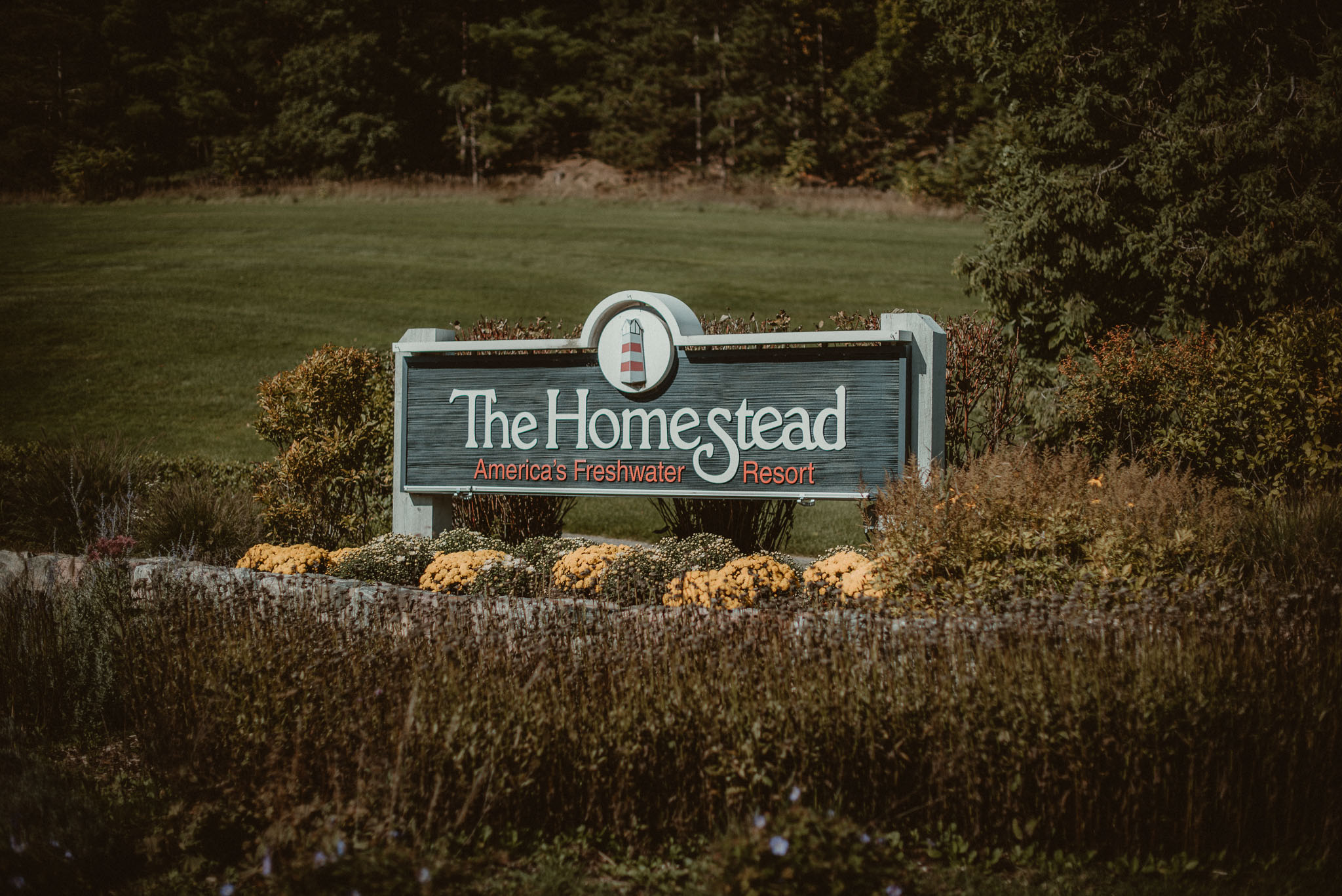 The Homestead entrance sign