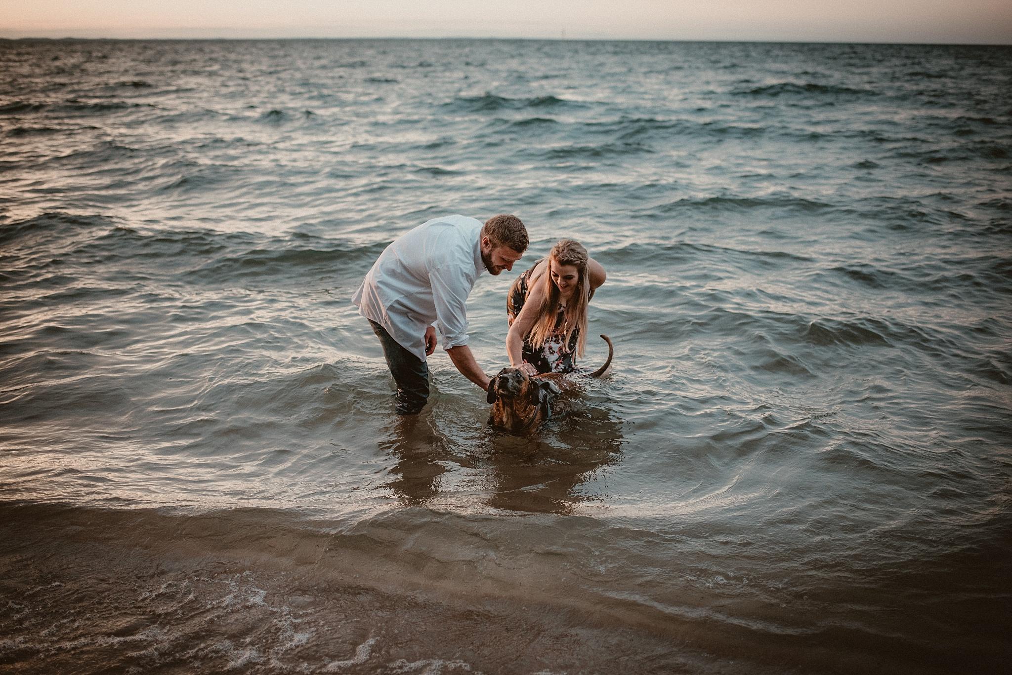 Northern-Michigan-Photographer,Sunset-Engagement-Photo-Shoot-Old-Mission-Peninsula-Lighthouse-Traverse-City-Michigan-Northern-MI-Wedding-Photography,